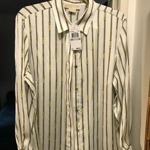 Michael Kors NWT button up blouse 1x 14/16